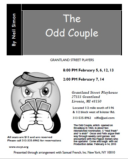 The Odd Couple - Grantland Street Players