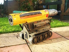 Gerry Anderson's Thunderbirds: The Mole Model Made From Recycled Materials - 3 of 4 (Kelvin64) Tags: red rescue art water truck fire corgi artwork model 60s engine international anderson lorry 1960s thunderbirds mole emergency tender diorama matchbox gerry brigade dinky