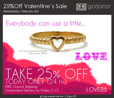 gorjana-Valentine's 25% Off