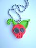 manzana skull colgante Colgante manzana calavera