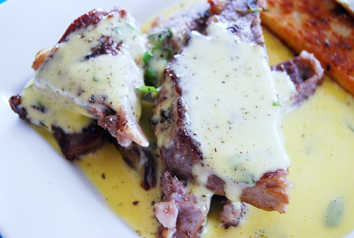 Angus Steak with Basil Hollandaise by Gordon Ramsay