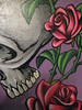 skull and roses by Eric (Joe??) 18x24 close up