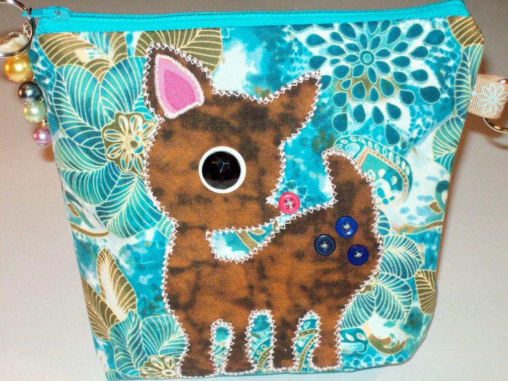 Cute Deer Zippy Bag Handmade by Mary Moon