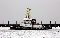 """""""TAUCHER O.WULF 3"""" (cuxclipper ) Tags: winter ships tug hafen ports elbe schiffe cuxhaven schlepper eisgang icedrift boatboot hfen cuxhaventaucherowulf3 imo5419244"""