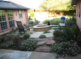 backyard landscaping rocks