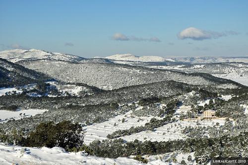 Menejador con nieve
