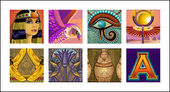 free Mega Moolah Isis slot game symbols