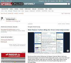 SPIEGEL Online-Artikel über das Pottblog