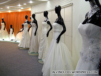 Gowns on display