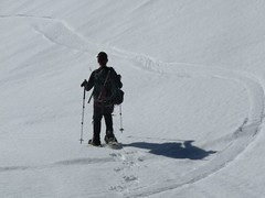 Lonesome snowshoer