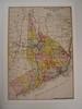 FAIRFIELD COUNTY, CONNECTICUT (Mumu X) Tags: usa vintage map connecticut postcard reprint