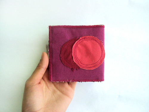 magenta and hot pink circles wallet. ziazia.