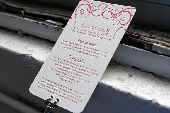 Cindrel Letterpress Insert Card