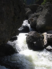 This photo was taken near the only practical spot for pumping water.  The contrasts of light and dark make this a tough picture to get, but the spot is too wild and wooly to ignore.