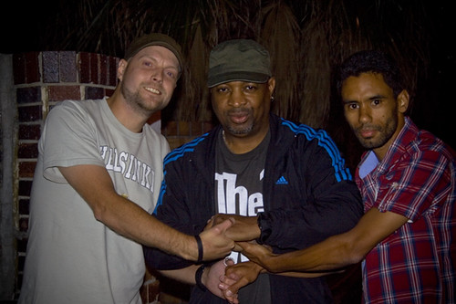 Chuck D, me and Shaqir