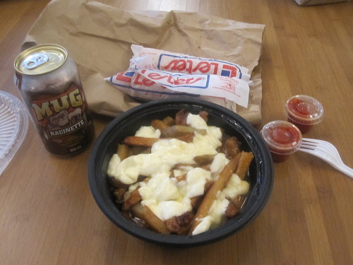 Poutine, hot-dogs, root beer from McGill Hot-dog - $10.50