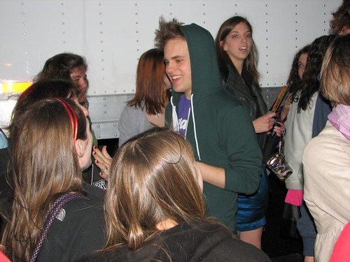 Taylor Trensch with fans