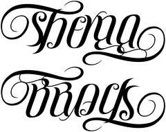 """Sheyna"" & ""Brock"" Ambigram"