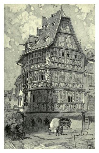 021- Estrasgurgo- El edificio Kammerzall-Alsace-Lorraine-1918- Edwards George Wharton