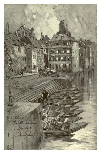 022- Estrasburgo- Puerto de la pequeña francia-Alsace-Lorraine-1918- Edwards George Wharton