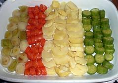 verdure con salsa mornay