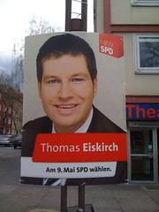Landtagswahl NRW 2010: Wahlplakat von Thomas Eiskirch (SPD)