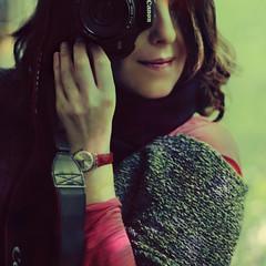 superbusy :) (monyart) Tags: light woman selfportrait cute me colors girl beautiful smile amsterdam hair myself mirror reflected girlpower monyart