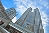 Angle of the Dangle (Clint Koehler) Tags: city sky building tower glass japan skyscraper tokyo shinjuku asia angle highrise tilt hdr photomatix 5xp nikond700 shinjukugovernmentbuilding 142428