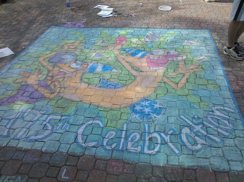 Sigma Kappa's Chalk on the Mall