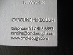 McKeough Letterpress Business Cards