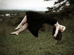 fall from grace (dlemieux) Tags: summer portrait woman selfportrait june photoshop self dlemieux levitation diana levitate 2011 trickimagery