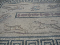 Greek or Roaman Mosaic Floor, Pergamon Museum, Berlin  IMG_5985 (geoferrier) Tags: bridge horse berlin museum bronze tile dolphin greektemple