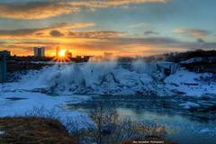 the ultimate sunrise (Rex Montalban Photography) Tags: winter snow sunrise niagarafalls waterfalls rexmontalbanphotography