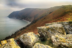 Exmoor meets the sea (OutdoorMonkey) Tags: exmoor somerset windhill forelandpoint countisbury lynmouth cliff hill hillside rock tor outcrop sea ocean seashore coast coastline coastal countryside rural outside outdoor nature scenic scenery headland