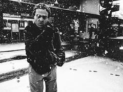 wonderland (matthias hämmerly) Tags: winter snow cold man zürich zuerich bucheggplatz tram street streetphotography candid grain contrast black white bw ricoh grd 2