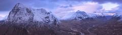 Glen Coe Panorama (J McSporran) Tags: scotland highlands westhighlands panorama glencoe landscape canon6d ef70200mmf28lisiiusm buachailleetivemor buachailleetivebeag bideannambian lairigeilde stobmhicmhartuin beinnachrulaiste snow mountains