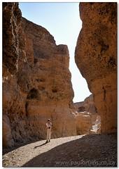 Canyoneering Jenny (Panorama Paul) Tags: sesriemcanyon namibia namibdesert nohdr tsauchabriver namibnaukluftnationalpark nikfilters nikond300 notavertorama wwwpaulbruinscoza paulbruinsphotography