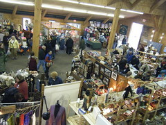 Shoppers in the Horticulture Barn