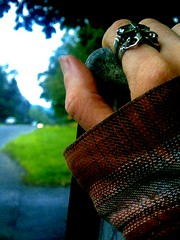 BusStopFTW. (G_Pen_Drag.on) Tags: hand busstop plaid yah heybus