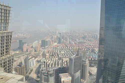 View on Shanghai from 88th floor