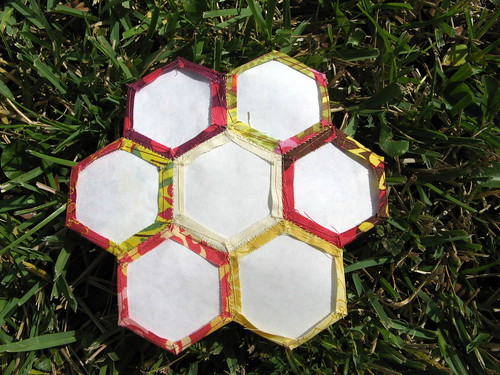 back of hexagon flower