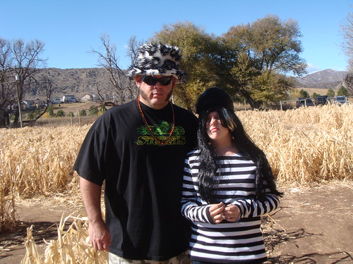 Kayley and Paul in the corn maze.