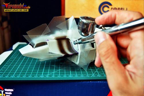 V-La miniserie - Diorama Hangar Nave Nodriza (3)