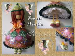 Boneca Priscila - Mandala da Perseverana (Artes di Viviane Garcia) Tags: natal doll dolls mandala biscuit porta energia mandalas enfeite porcelanafria coldporcelain presentedenatal esotrico enfeitedeporta gorjus enfeiteparaporta