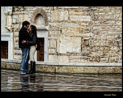 winter kiss (Knock out (back again...and again)) Tags: love wet rain kiss couple athens greece wintertime soe inlove monastiraki ysplix