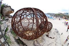DSC_0353 ([+babydoll]) Tags: sea art bondi fisheye sculpturebythesea 2009 artworks sculpturesbythesea scuptures fisheeye