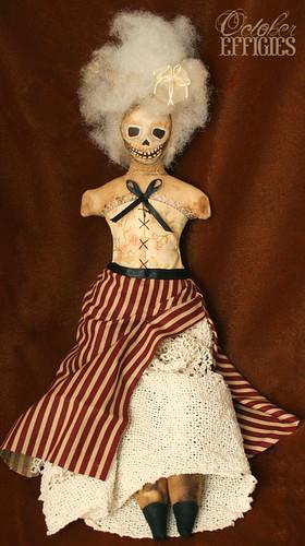skull corset doll