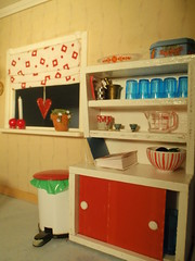 the cupboard (pubdoll) Tags: red kitchen miniature dollhouse dollshouse lundby 116scale 116thscale 34scale modernminiature