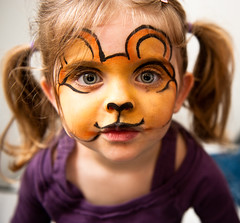 Flavie the Pooh (86th/52) (skippyjon) Tags: portrait makeup winniethepooh withflash onflickr flavie week86 nikkor2470f28 52weekskids weekspick 52weeksofflavie