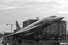 Aerospatiale-British Aerospace Concorde 101 Aircraft (rbpdesigner) Tags: bw paris france slr canon blackwhite airport europa europe noiretblanc aircraft frana aeroporto pb bn concorde 5d aeropuerto francia p